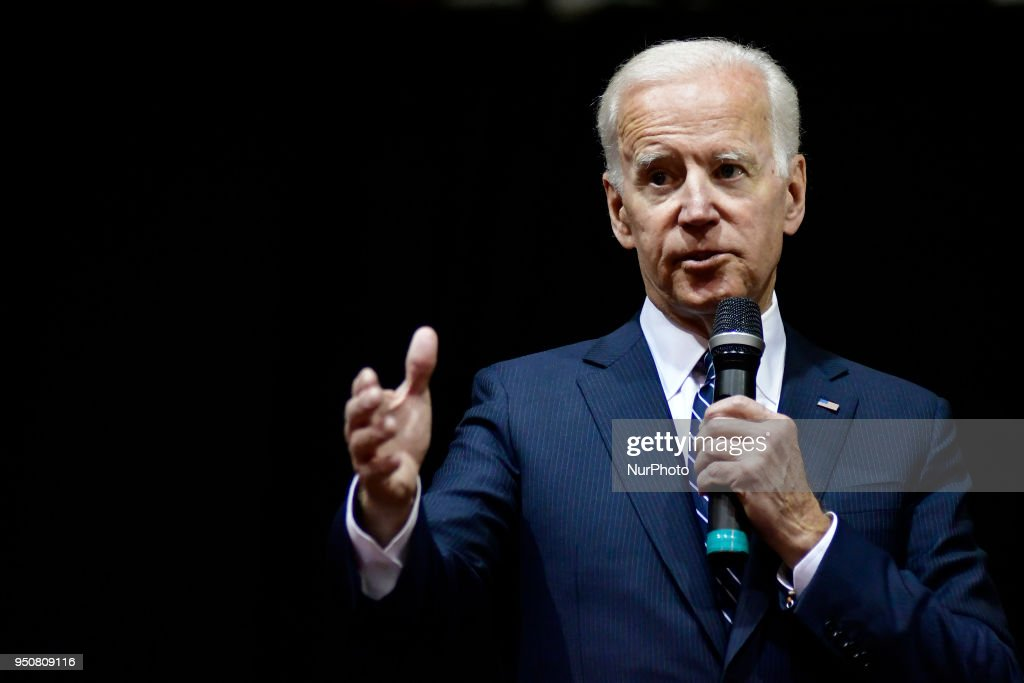 Joe Biden Speaks at Saint Joseph's University, in Philadelphia, PA : News Photo