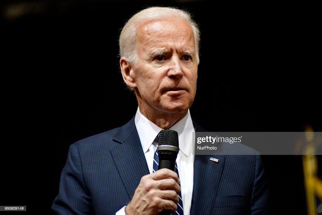Joe Biden Speaks at Saint Joseph's University, in Philadelphia, PA : News Photo