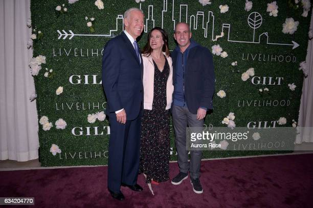 Joe Biden Ashley Biden and Jonathan Greller attend Gilt x Livelihood Launch Event at 6 St John's Lane on February 7 2017 in New York City