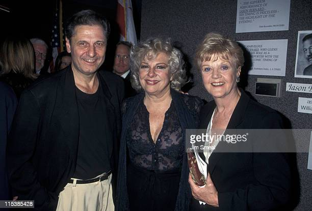 Joe Bologna Rene Taylor and Angela Lansbury during Opening Night of Bermuda Avenue Triangle at Tiffany Theater in West Hollywood California United...