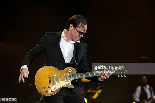 Joe Bonamassa performs on stage at Red Rocks Amphitheatre on 31 August 2014 in Morrison CO United States of America