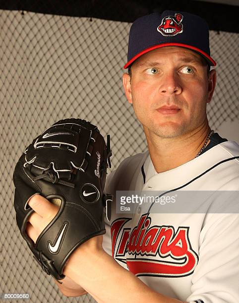 Joe Borowski of the Cleveland Indians poses during Photo Day on February 26 2008 at Chain O' Lakes in Winter Haven Florida