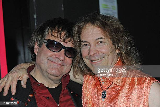 Joe Bouchard and Albert Bouchard original members of Blue Oyster Cult perform with Blue Scarlet Coop opening for New York Dolls at the Electric...