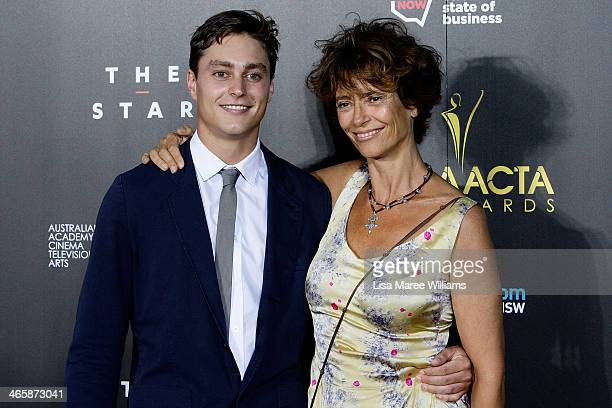 Joe Brown and Rachel Ward arrive at the 3rd Annual AACTA Awards Ceremony at The Star on January 30 2014 in Sydney Australia