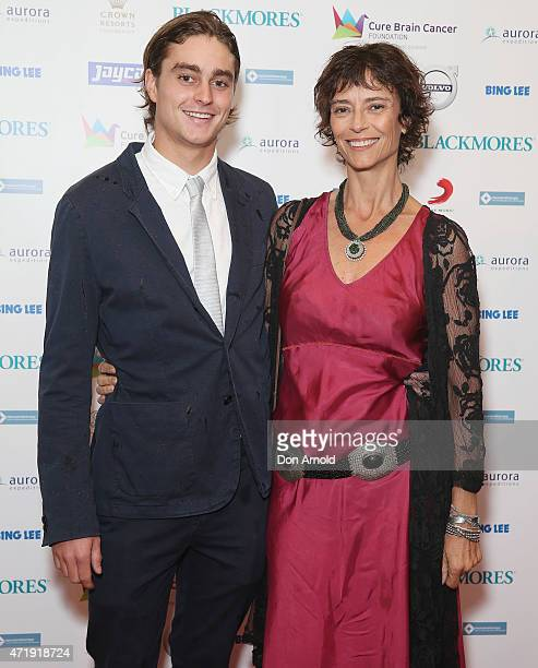 Joe Brown and Rachel Ward attend the Cure Brain Cancer Foundation 1930s Hollywood Glamour Ball at the Hordern Pavillion on May 2 2015 in Sydney...