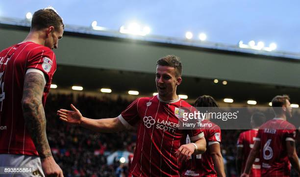 Joe Bryan of Bristol City celebrates after scoring his sides second goal during the Sky Bet Championship match between Bristol City and Nottingham...