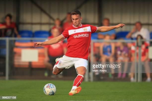 Joe Bryan of Bristol City during the PreSeason Friendly between Bristol City v Cheltenham Town on July 10 2018 in WestonSuperMare England