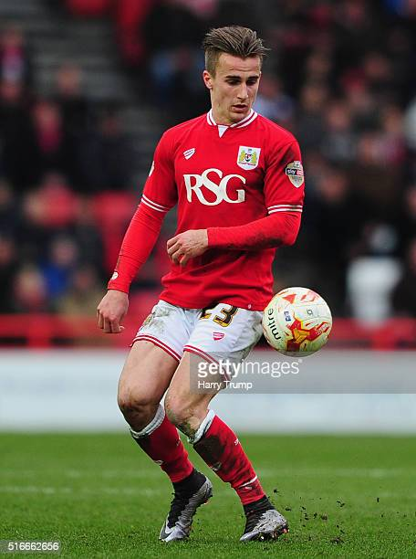 Joe Bryan of Bristol City during the Sky Bet Championship match between Bristol City and Bolton Wanderers at Ashton Gate on March 19 2016 in Bristol...