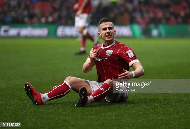 Joe Bryan of Bristol City during the Sky Bet Championship match between Bristol City and Queens Park Rangers at Ashton Gate on January 27 2018 in...