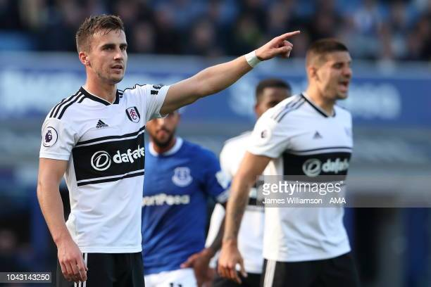 Joe Bryan of Fulham during the Premier League match between Everton FC and Fulham FC at Goodison Park on September 29 2018 in Liverpool United Kingdom