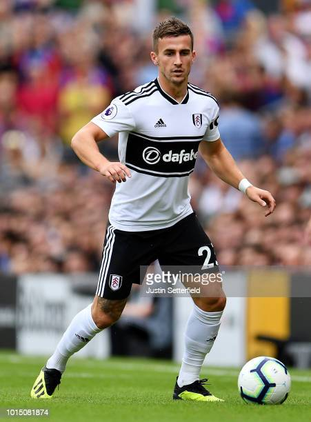 Joe Bryan of Fulham during the Premier League match between Fulham FC and Crystal Palace at Craven Cottage on August 11 2018 in London United Kingdom