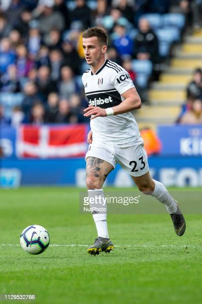 Joe Bryan of Fulham FC during the Premier League match between Leicester City and Fulham at the King Power Stadium Leicester on Saturday 9th March...