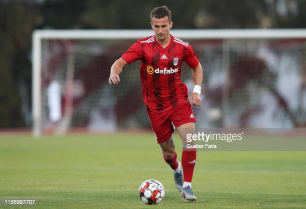 Joe Bryan of Fulham FC in action during the PreSeason Friendly match between FC Porto and Fulham FC at Estadio Municipal de Albufeira on July 16 2019...