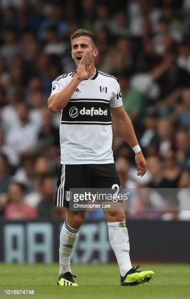 Joe Bryan of Fulham in action during the Premier League match between Fulham FC and Crystal Palace at Craven Cottage on August 11 2018 in London...
