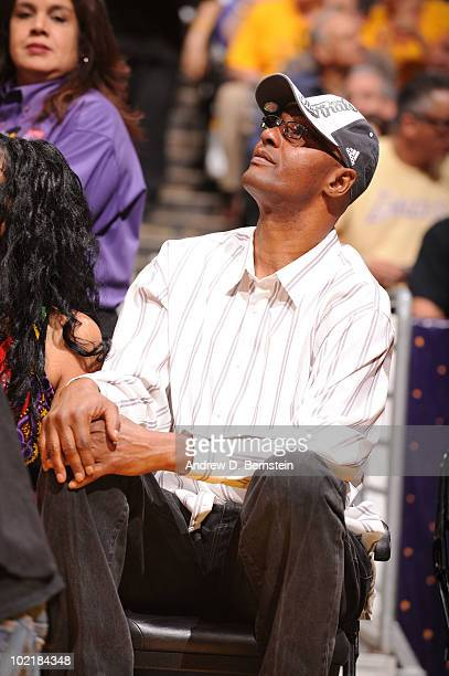 Joe Bryant father of Kobe Bryant of the Los Angeles Lakers attends a game against the Boston Celtics in Game Seven of the 2010 NBA Finals on June 17...