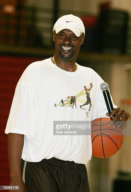 Joe Bryant speaks at The Kobe Basketball Academy at Loyola Marymount University on July 5 2007 in Los Angeles California