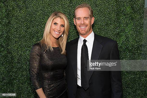 Joe Buck and his wife Michelle Beisner arrive at the Texas Medal of Arts Awards at the Long Center on February 25 2015 in Austin Texas