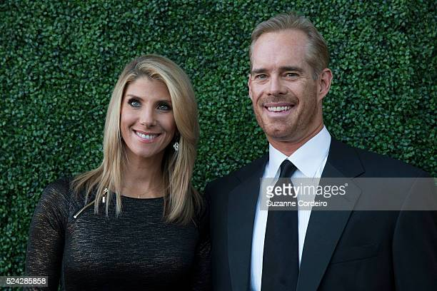 Joe Buck and his wife Michelle Beisner pose on the red carpet at the Texas Medal of Arts Awards on Wednesday February 25 at the Long Center in Austin...