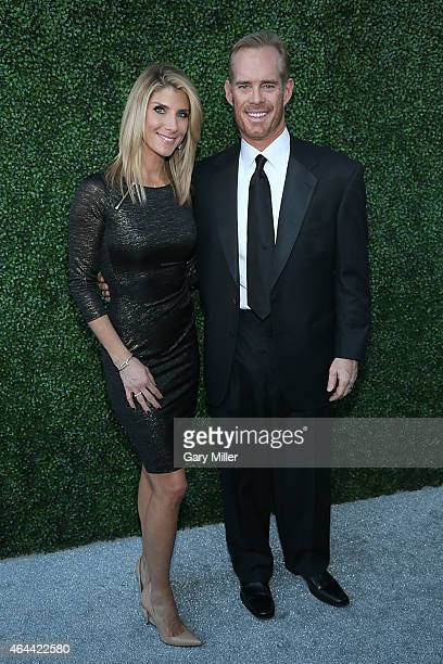 Joe Buck and his wife Michelle Beisner pose on the red carpet for the Texas Medal of Arts Awards at the Long Center on February 25 2015 in Austin...