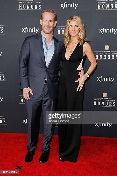 Joe Buck and Michelle Beisner attend the 4th Annual NFL Honors at Phoenix Convention Center on January 31 2015 in Phoenix Arizona