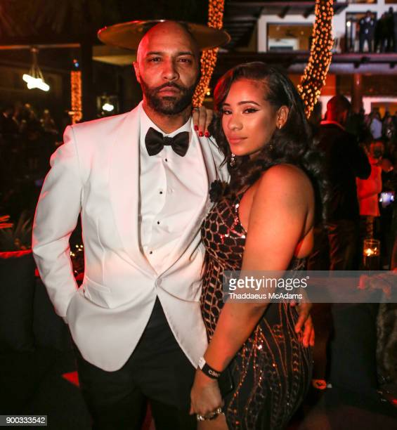 Joe Budden and Cyn Santana attend Sean 'Diddy' Combs Hosts CIROC The New Year 2018 Powered By Deleon Tequila at Star Island on December 31 2017 in...
