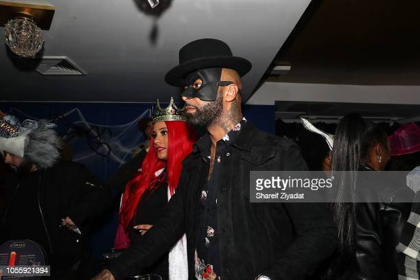 Joe Budden and Cyn Santana attends LaLa Anthony Lenny S Halloween Party at Vandal on October 31 2018 in New York City