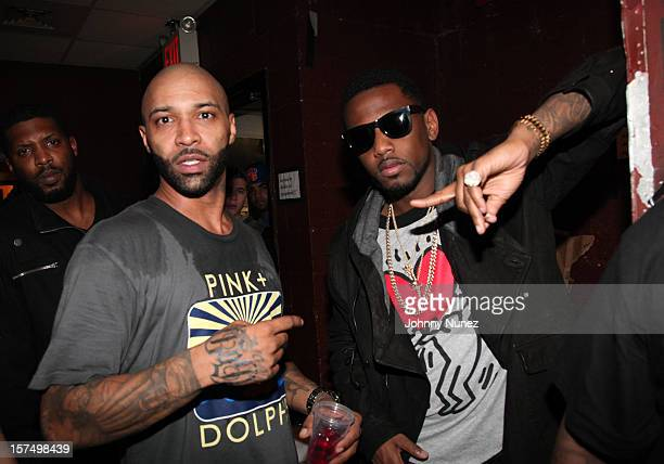 Joe Budden and Fabolous backstage at BB King on December 3 2012 in New York City
