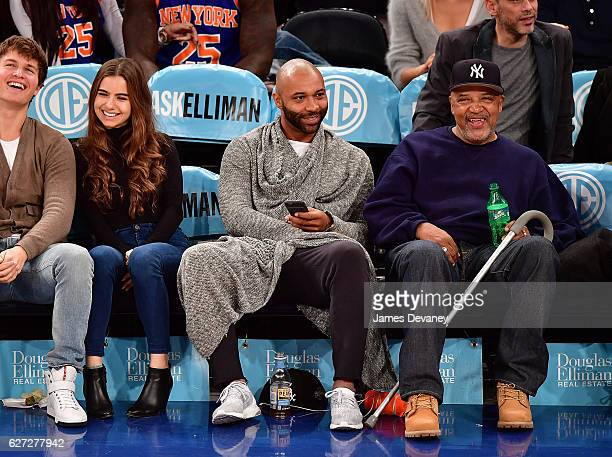 Joe Budden attends Minnesota Timberwolves vs New York Knicks game at Madison Square Garden on December 2 2016 in New York City