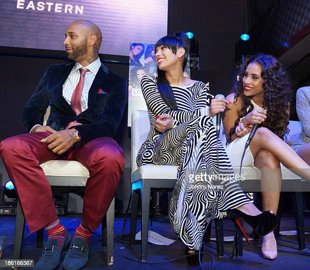 Joe Budden Erica Mena and Cyn Santana attend the 'Love And Hip Hop' Season 4 Launch at Stage 48 on October 28 2013 in New York City