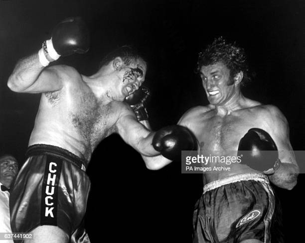 Joe Bugner rocks Chuck Wepner with a powerful right