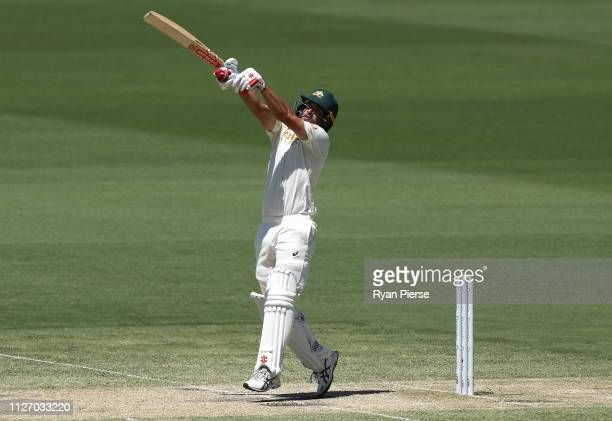 Joe Burns of Australia bats during day three of the Second Test match between Australia and Sri Lanka at Manuka Oval on February 03 2019 in Canberra...