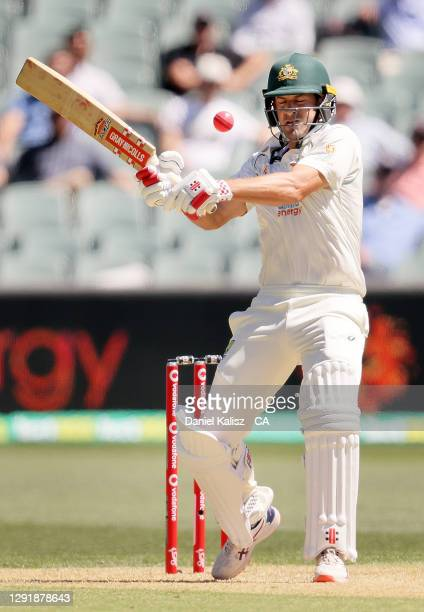 Joe Burns of Australia bats during day two of the First Test match between Australia and India at Adelaide Oval on December 18, 2020 in Adelaide,...