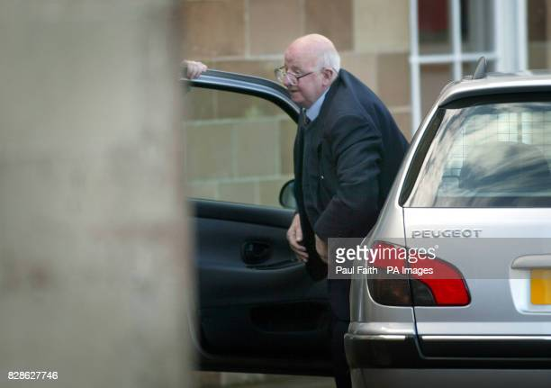 Joe Cahill veteran Republican and former IRA Chief of staff arrives at Hillsborough Castle County Down where British Prime Minister Tony Blair and...