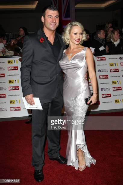 Joe Calzaghe and Kristina Rihanoff arrive at Pride of Britain Awards at Grosvenor House on November 8 2010 in London England