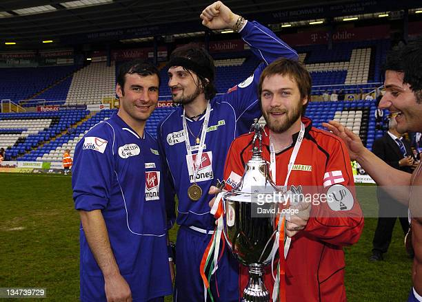 Joe Calzaghe and Serge Pizzorno and Tom Meighan during Soccer Six at Birmingham City Football Club May 14 2006 at St Andrews Stadium in Birmingham...