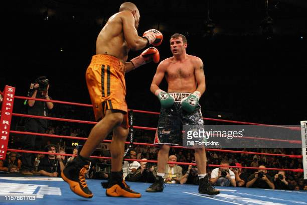 Joe Calzaghe defeats Roy Jones Jr in their Light Heavyweight boxing match by UD at Madison Square Garden on November 8 2008 in New York City This was...