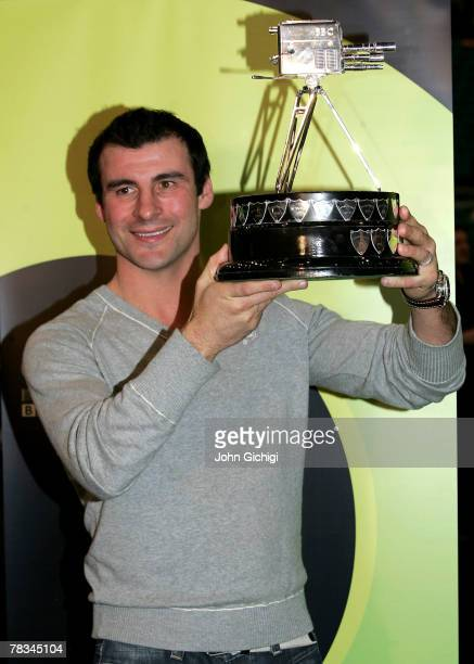 Joe Calzaghe poses after winning the BBC Sports Personality of the Year on December 9 2007 at The MGM Grand Hotel and Casino in Las Vegas Nevada...