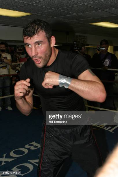 Joe Calzaghe works out at King's Gym, in New York City in preparation for his light heavyweight fight with Roy Jones Jr. At Madison Square...