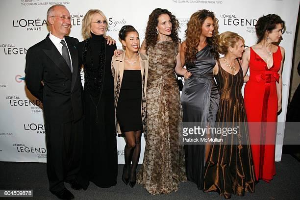 Joe Campinell Diane Keaton Eva Longoria Andie MacDowell Beyonce Knowles Carol J Hamilton and Dayle Haddon attend L'OREAL Legends Gala Benefiting The...