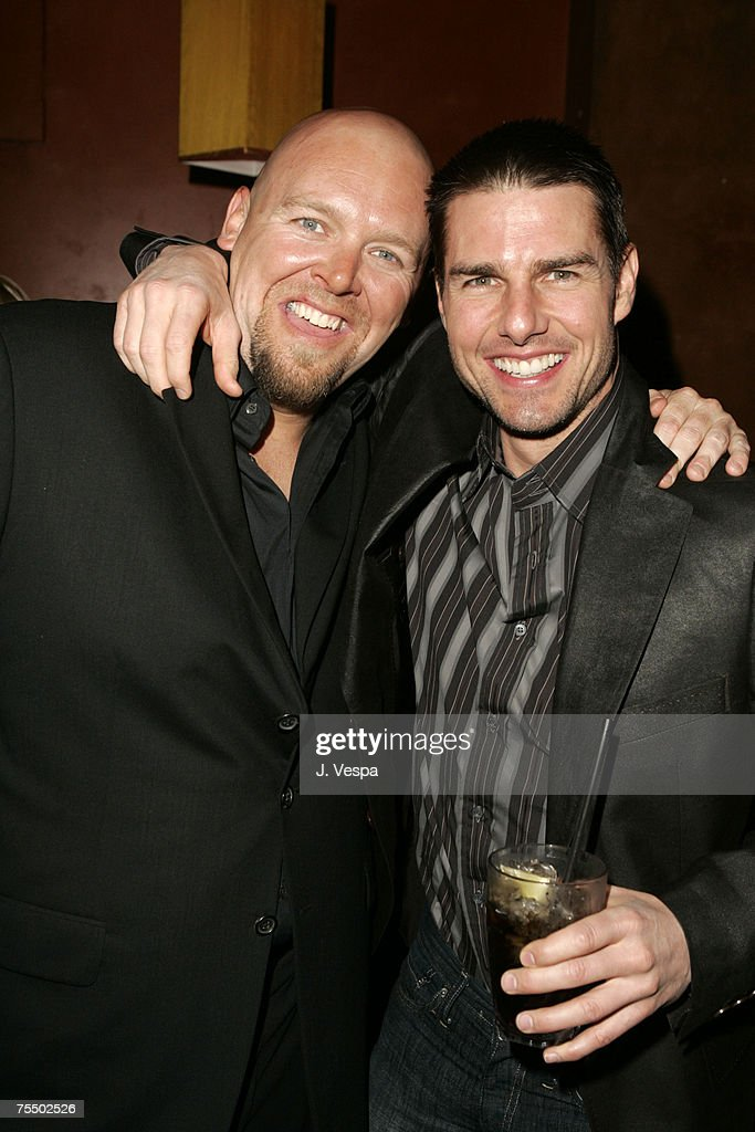 Joe Carnahan and Tom Cruise at the Forbidden City in Hollywood, California