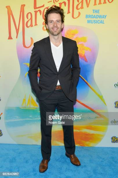 Joe Carroll attends the Broadway premiere of 'Escape to Margaritaville' the new musical featuring songs by Jimmy Buffett at the Marquis Theatre on...