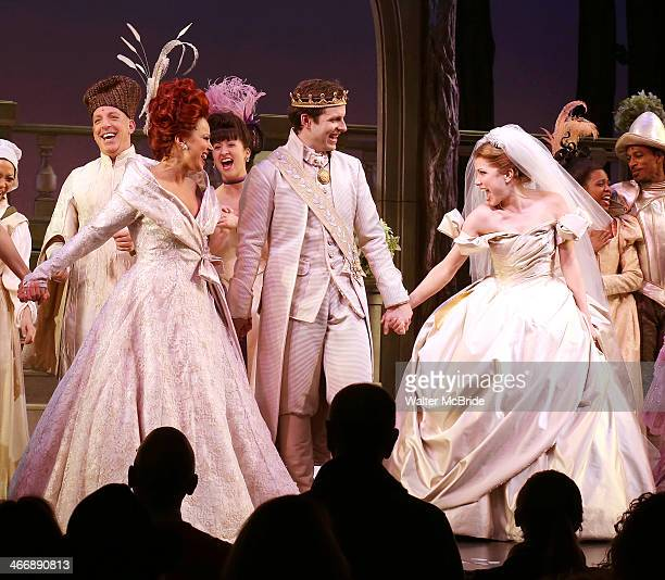 Joe Carroll with Fran Drescher and Carly Rae Jepsen as they debut in 'Broadway's 'Rodgers and Hammerstein's Cinderella' at Broadway Theatre on...