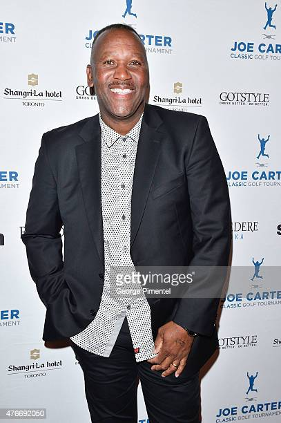 Joe Carter attends Joe Carter Classic Celebrity Golf Tournament after party at ShangriLa Hotel on June 10 2015 in Toronto Canada