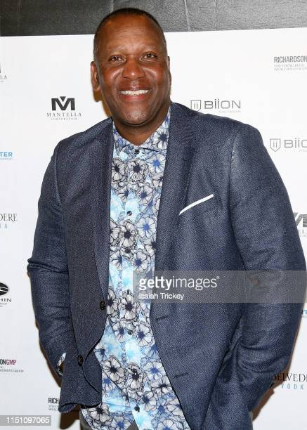 Joe Carter attends the 10th Annual Joe Carter Classic After Party at REBEL on June 20 2019 in Toronto Canada