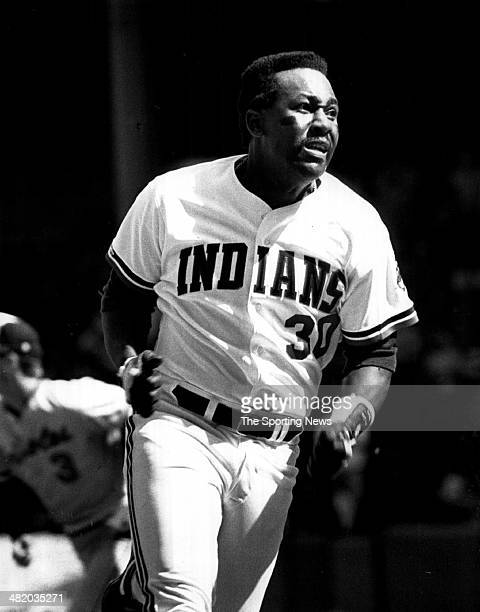 Joe Carter of the Cleveland Indians runs circa 1980s