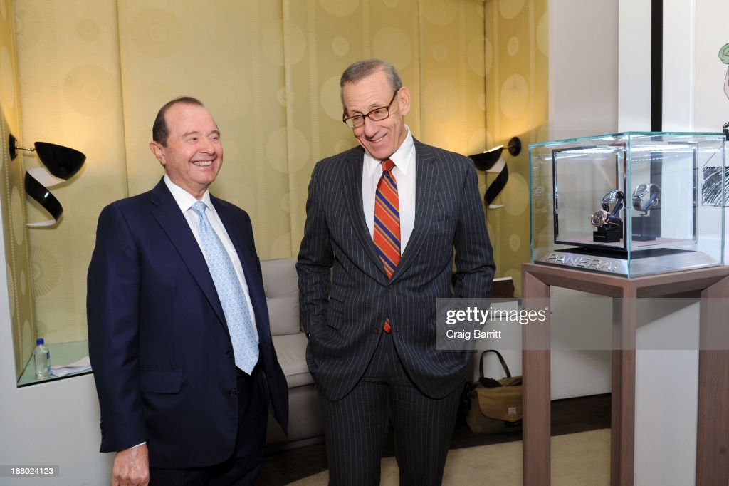 Joe Cayre and Stephen Ross attend the Haute Living New York City Real Estate Summit on November 14, 2013 in New York City.