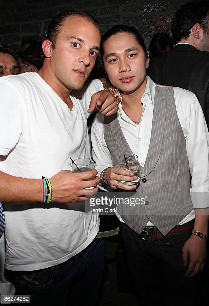 Joe Cervasio and Joe Rockstarr attend a Svedka party at The Eldridge on April 28, 2009 in New York City.