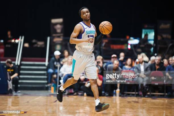Joe Chealey of the Greensboro Swarm brings the ball up court against the Canton Charge on December 15 2018 at the Canton Memorial Civic Center in...