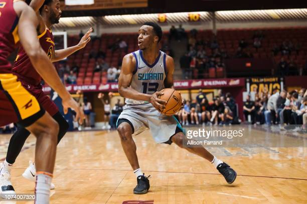 Joe Chealey of the Greensboro Swarm drives to the basket against the Canton Charge on December 15 2018 at the Canton Memorial Civic Center in Canton...