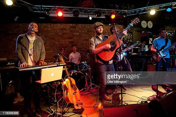 Joe Clark, John Willoughby, Ralph Pellymounter, Ian Dudfield and Josh Platman of To Kill A King perform on stage during Dot To Dot Festival in The...